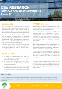 CBx Low Carbon Heat Networks - Overview Phase II